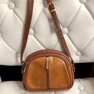 Vintage Valentino Di Paolo Brown Leather Crossbody
